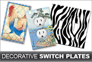 Decorative Wall Plate Covers decorative switch plates, outlet covers, & wall plates